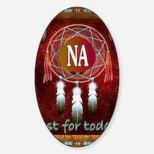 2-NA INDIAN Sticker (Oval)