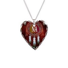 2-NA INDIAN Necklace Heart Charm