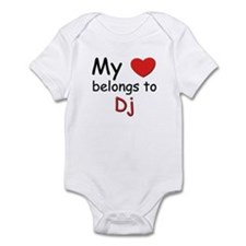 My heart belongs to dj Infant Bodysuit