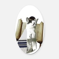 catmitzvah for dark Oval Car Magnet