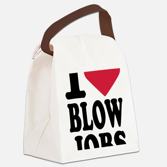 i_love_blowjobs_3lines Canvas Lunch Bag