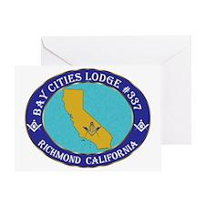 bay city CALIFMASON Greeting Card