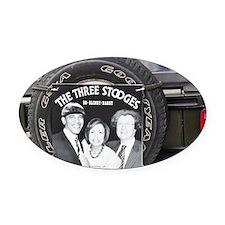 2-3stooges Oval Car Magnet