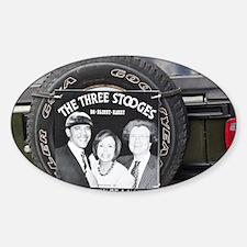 2-3stooges Sticker (Oval)