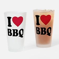 i_love_bbq Drinking Glass
