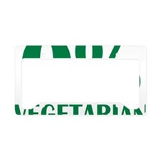 o_vegetarian License Plate Holder