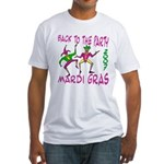 Back To Mardi Gras Fitted T-Shirt