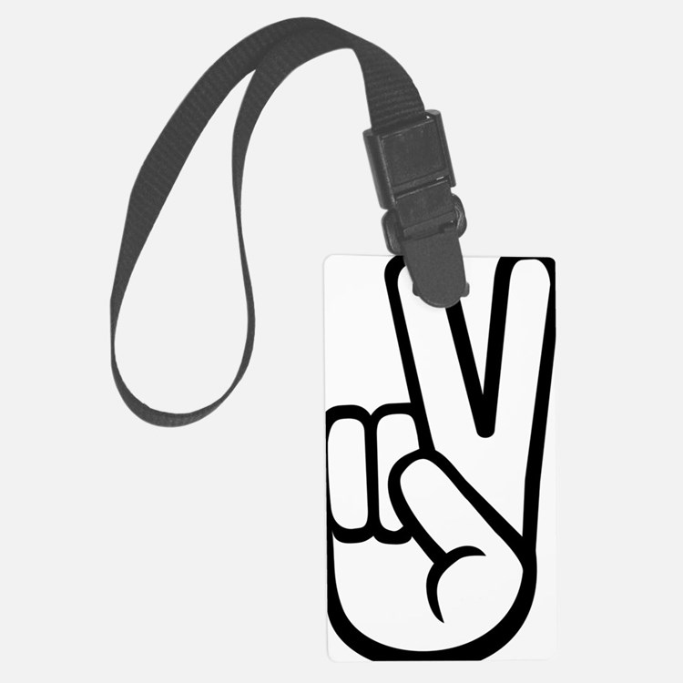hand_victory Luggage Tag