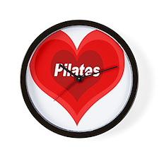 Pilates Expanding Heart Wall Clock