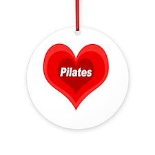 Pilates Expanding Heart Round Ornament