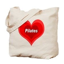 Pilates Expanding Heart Tote Bag