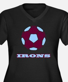 IRONS copy Women's Plus Size Dark V-Neck T-Shirt