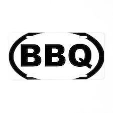 bbq_car Aluminum License Plate