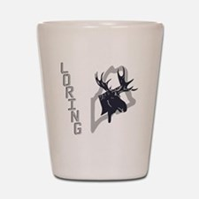 Loring - Moose - Ghost Grey Shot Glass