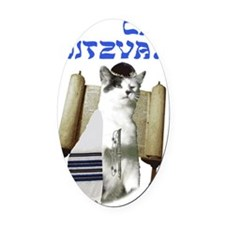 catmitzvah final Oval Car Magnet
