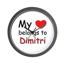 My heart belongs to dimitri Wall Clock