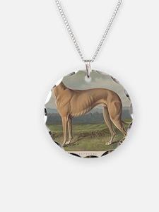 Greyhound antique print Necklace