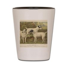 Fox Terriers antique print Shot Glass