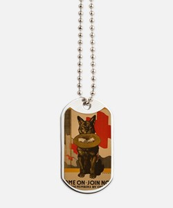 WWI Red Cross Dog Poster Dog Tags