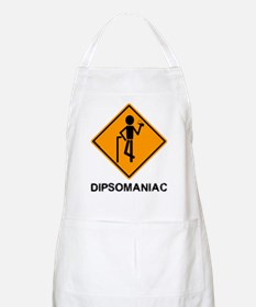 Caution Dipsomaniac BBQ Apron