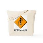 Caution Dipsomaniac Tote Bag
