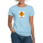 Caution Dipsomaniac Women's Pink T-Shirt