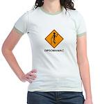 Caution Dipsomaniac Jr. Ringer T-Shirt
