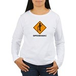 Caution Dipsomaniac Women's Long Sleeve T-Shirt
