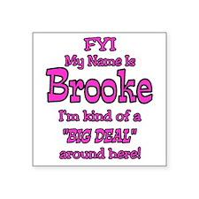 """Brooke Square Sticker 3"""" x 3"""""""