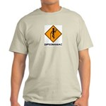 Caution Dipsomaniac Ash Grey T-Shirt
