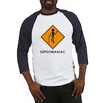 Caution Dipsomaniac Baseball Jersey