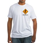 Caution Dipsomaniac Fitted T-Shirt