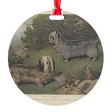 Skye Terriers antique print Ornament