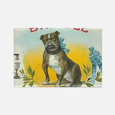 Brindle Bulldog antique label Rectangle Magnet