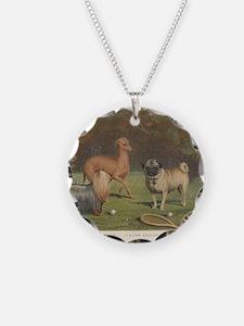 Dogs antique print Necklace