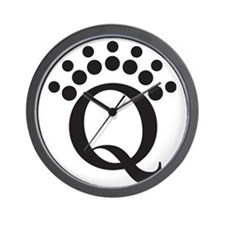 Q BW Wall Clock