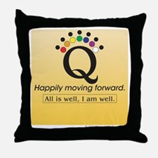 Happily Yellow Throw Pillow