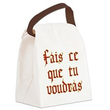 fais ce que Canvas Lunch Bag