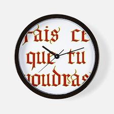 fais ce que Wall Clock