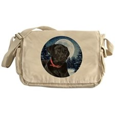 Black Lab Messenger Bag