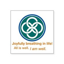 "Joyful Celtic Square Sticker 3"" x 3"""