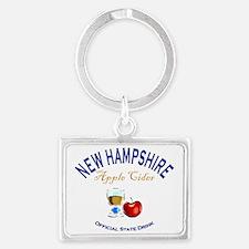 Apple Cider NH State Drink Landscape Keychain