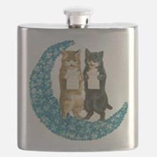 Blue Moon Singing Cats Flask