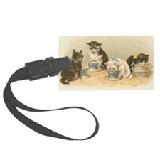 Kittens and Tea Cups 1 Luggage Tag