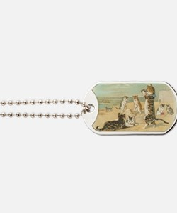 Cats at the Beach Dog Tags