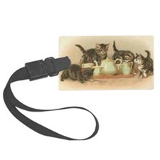 Kittens and Tea Cups 2 Luggage Tag