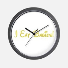 I Eat Babies Wall Clock