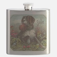 Sport Dog with Cigars Flask