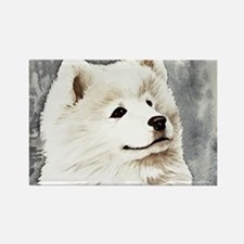 Samoyed Puppy Rectangle Magnet