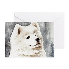 Samoyed Puppy Greeting Card